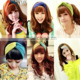 New Design Bohemia multit Color Polyester cotton Crossing Woman summer Headband