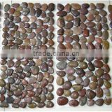 Polished Mixed Color Cobblestone Tiles for Flooring