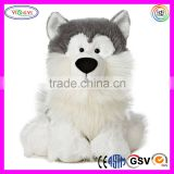 D679 Sitting Dog Stuffed Furry Animal Eco Kids Talking Dog Plush Toy