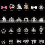 Wholesale 3d nail art bows decoration metal nail charms