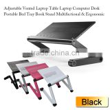 Adjustable Vented Height Laptop Stand Table/ e Portable Bed Tray Book Stand,nottable foldable recliner laptop stands for beds