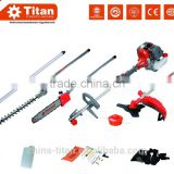 5 in 1 multi tools, gasoline multi-function tools, long pole chain saw, long pole hedge trimmer, brush cutter with CE, MD,EUII