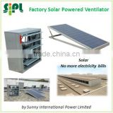 SUNNY Solar Powered 300W Industrial DC Wall Exhaust Fan Negative Pressure Air Ventilation Fan
