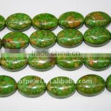 wholesale fashion green oval shape loose turquoise strand