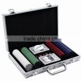 200pcs poker chips set in aluminum case with 4g chips