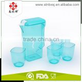 1600ml Fashionable Plastic Water Jug With Cups