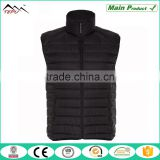 mens black ultra lightweight quilted bomber jacket sleeveless