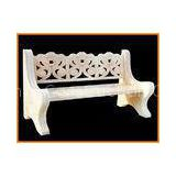 Pure Handmade Carving Marble Garden Ornaments With Outdoor Stone Bench