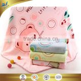 china manufacturer microfiber cartoon bear and bubbles character reactive printed baby blanket 110*110 cm