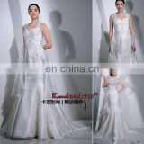 EB6006 Beautiful embroidery classical shinging organza wedding dress wedding gown bridal dress