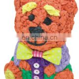 2015 fashion tissue paper ceramic money bank for kids---bear