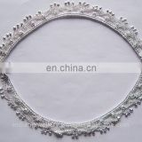 Silver - plated rhinestone fancy leg jewelry anklets manufacturer, silver plated anklet jewellery exporter