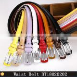 New 8 Colors Thin Pu Leather Belt Female Red Brown Black White Yellow Waist Belts For Dress