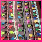4.5cm width colorful tassel fringe tassel lace trim for garment