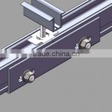clear anodized solar mounting profile aluminum fixing parts