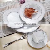 new bone china porcelainware with sliver rim wholesale dinnerware with decal purchase from china supplier