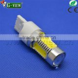 T20 7740 7743 12-24v dc 7.5w 3cob white LED Turn light driving brake light auto aluminum radiator lamp bulb