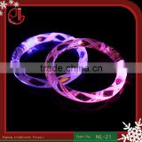 New Design Flash Light LED Bracelet Acrylic Bangles More Colors Fluorescent Bracelets For Party Bar Concert