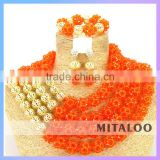 Mitaloo MT0008 Newest Design African Beads Nigerian African Jewelry Set For Party Or Wedding