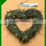 natural wicker bulk heart shaped christmas wreaths