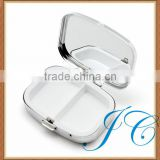 Cheap metal portable travel using pill box/case with mirror