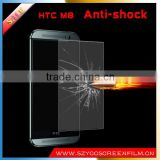 China alibaba anti explosion anti shock mobile clear screen protector/film/guard for HTC One M8