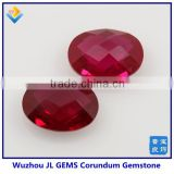 Chinese Hot sale oval shape gems stone ruby gemstones corundum loose Diamond for jewelry