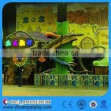 C&Q Amusement rides, Direct Manufacture Cartoon Design Outdoor electrical amusement mini train