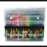 "100PCS 7"" White Wooden Color Pencil Set In PVC Bag for Promotional & Office & School"
