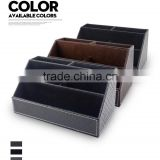 Custom color and size Eco-friendly premium faux leather make up organizer,storage rack,rack storage