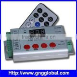 IR remote RGB LED Pixel SD controller support 2801,6803,1903,16716 digital led strip controller