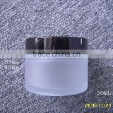 30ml 50ml clear and frosted cosmetics glass jar face cream glass jar with screw cap