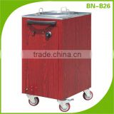 (BN-B26) Cosbao dish warming Dispenser stainless steel kitchen trolley,electric trolley,hand carts trolley