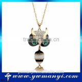 Newest Fashion champagne Wholesale fashion charm black animal Enamel fake gold necklace N0134