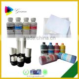 Hot selling cheap sublimation inkjet ink for epson for Cotton Fabric/Mug/Leather/PVC/pottery and porcelain printing