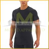 Men Micro Polyester Multi Colored Fitness Gym Clothing Lifting Workout V Neck Short Sleeve Muscle Fit T-shirts