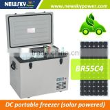 alibaba china 24v car fridge solar Portable Installation and Bottom-Freezer Type mini car fridge