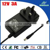 Lightning digital av adapter 12V 3A switching power adapter UK plug