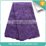Hangzhou french lace fabric / sequin and beaded fabric / bobbin lace patterns For Flower Girl Dresses                                                                         Quality Choice