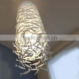 Ceramic Fish Pendant Lights Transparent Glass Fish Lighting for Luxury Decorative