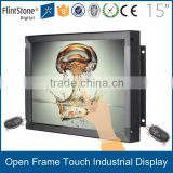 FlintStone 15 inch ID1509FT karaoke video monitor , ip display monitor , design touch screen for table