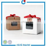 Eco -friendly folding elegent gift box recycle cardboard tea boxes with PP/PET clear window                                                                                                         Supplier's Choice