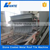 Trade assurance corrugated colorful stone coated steel roofing tile machine,stone chips coated roof tile work line