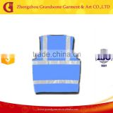 Blue Reflective Safety Vest with Pockets