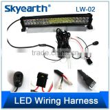 300W LED Wiring Harness In 3m Length With top Quality Relay And Luxury Switch Button Motorcycle Wiring Harness