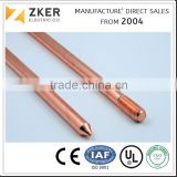 "Copper Bonded Steel Earth Rod 1/2"" 5/8"" 3/4"""