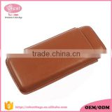 Shenzhen wholesale cigar case leather cigar tube with cigar cutter