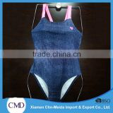 Hot Popular Dark Blue With Heart Ladies One-piece