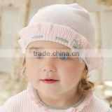 DB289 dave bella autumn winter baby hat earflat caps newborn hat wholesale baby knitted hat