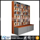 new design wall wooden book shelf for kids library